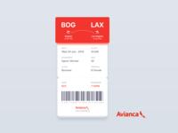 Avianca - Boarding Pass II