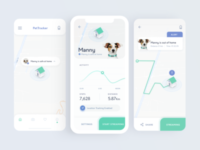 Pet Location Tracking App