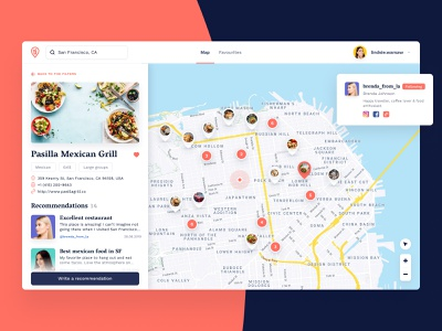 True inside Venues favourites rating reviews food desktop map
