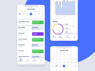 Schedule App Mobile dashboard chart schedule date calendar ios mobile
