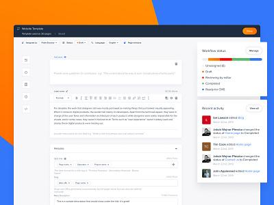 Slickplan - Content Planner saas desktop planner template content cms dashboard