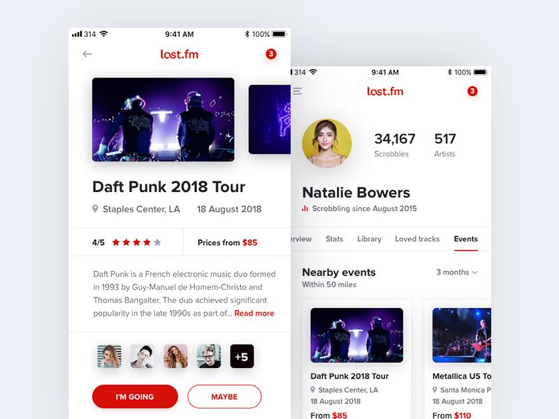 Last.fm events last.fm music profile ios daft punk concert events mobile streaming album song social