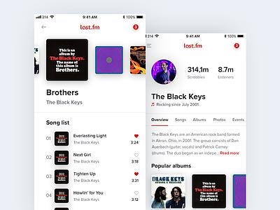 Last.fm artist profile last.fm music profile ios the black keys artist mobile streaming album song