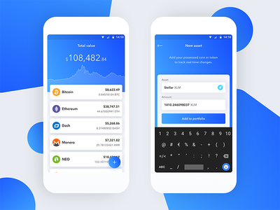HODL Android material design android marketcap graph chart hodl ethereum bitcoin cryptocurrency crypto mobile blockchain