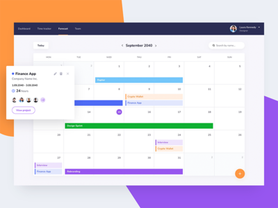 Projects calendar