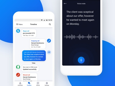 AI business assistant - voice note