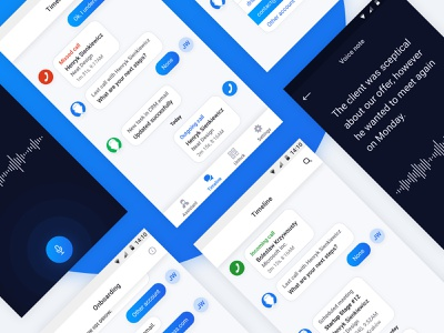AI business assistant - timeline note voice chat notification android business timeline assistant mobile