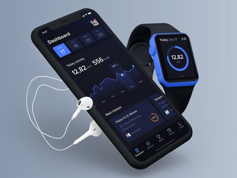 FitnessKingdom Dashboard health activity iphone apple watch dashboard ios mobile chart fitness