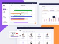 Team management planner statistics project web charte graphique chart forecast calendar dashboard management