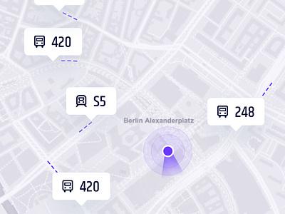 Traffic Tracker App iphone x illustration location city map bus transport ios mobile
