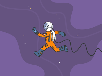 Float 2021 procreate illustration space astronaut