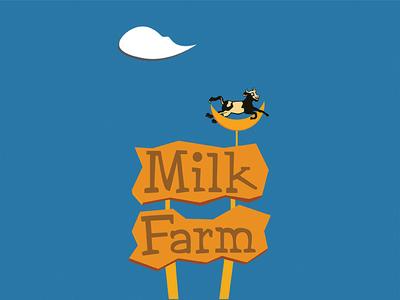 Milk Farm road signs california dixon milk farm