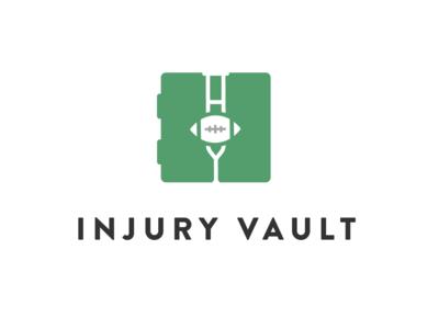 Injury Vault Logo green vault logo sports