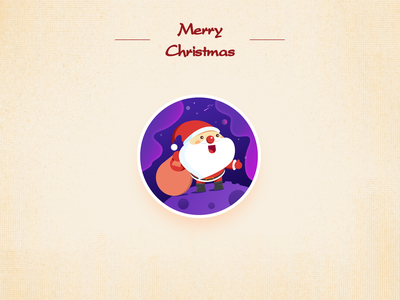 Merry  Christmas_Santa Claus illustration 设计 排版