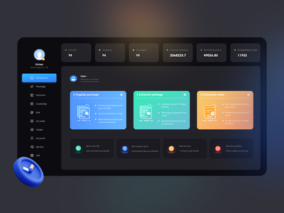 Investigate the dark theme of the dashboard 图标 illustration icon ux 设计 ui