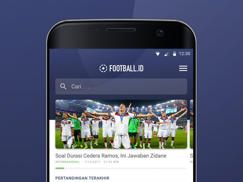 Football ID layout article indonesia bola uiux design product design ui design news app soccer football