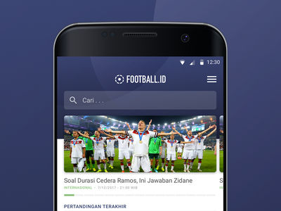 Football ID layout article indonesia bola uiux design product design ui design news app soccer football