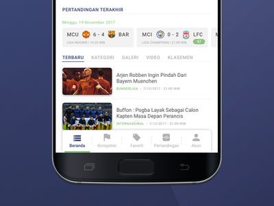 Football ID_2 article news news app design design inspiration simple ui best ui ui design product design