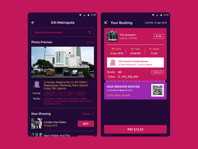 MOZI Cinema App_4 ticket booking film cinema app design inspiration simple ui best ui ui design product design