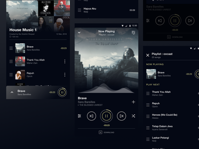 Music App_1 album song music app design inspiration simple ui best ui ui design product design