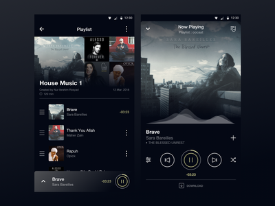 Music App_2 album song music app design inspiration simple ui best ui ui design product design
