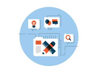 Research & Design illustration