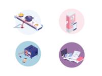 Illustrations for portfolio