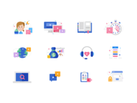 Icon set for UX
