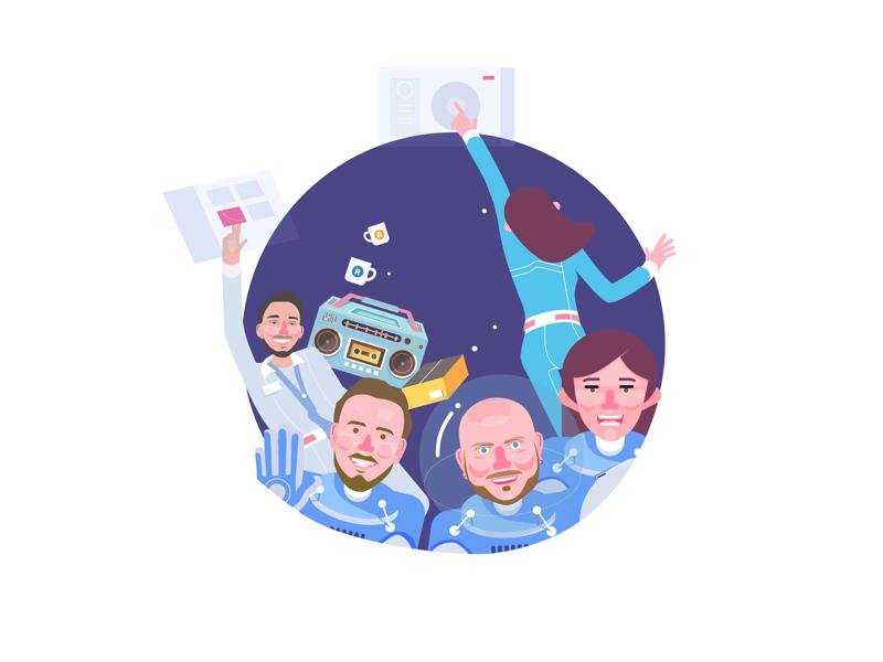 Design team illustration design