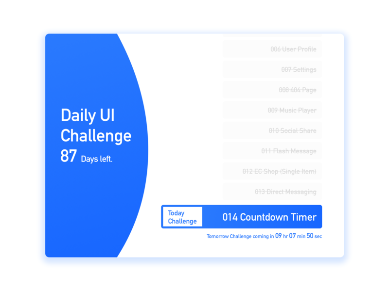 Daily UI 014   Countdown Timer by Ching-Jan Wang on Dribbble