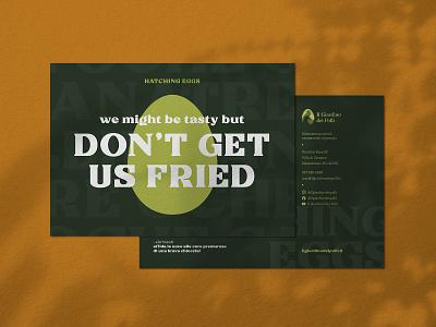 Il Giardino Dei Polli - Hatching Eggs brand identity logo design adobe typogaphy branding cards