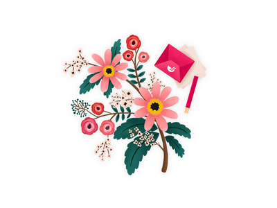 flowers thankyou flower illustration simple ui clean chowbus