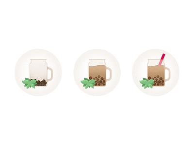 Milk tea drink chinese food 奶茶 process illustraion flat chowbus fortune cookie milk tea