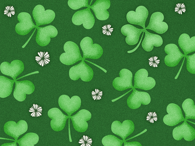 clover 1 幸运 四叶草 grass lucky four-leaf clover green st. patricks day clover design chowbus simple ui illustration