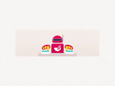 Order statues - Waiting for response chowbus system order operation waiting robot design food illustration ui icon