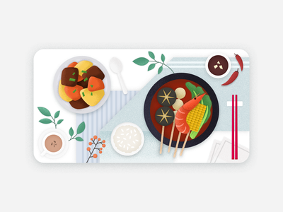 Chowbus dish card 外卖 中餐 card coupon chowbus branding illustration ui