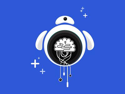Illustration for Robotx Space website concept branding brain sci fi ai robot robotx space ui illustration