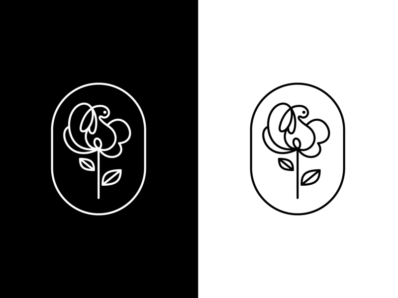 Logo Design for a flower shop flower rabbit illustration design logo simple ui