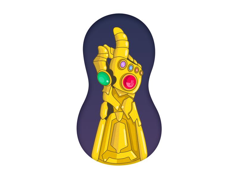 Thanos vector avengers infinity stones infinity gauntlet thanos illustration chowbus simple