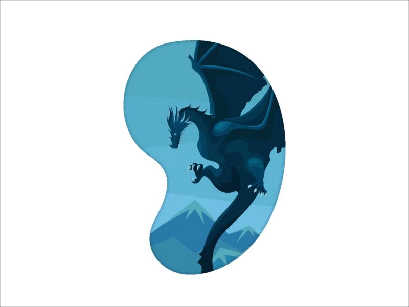 Got chowbus got dragon illustration flat icon clean ui