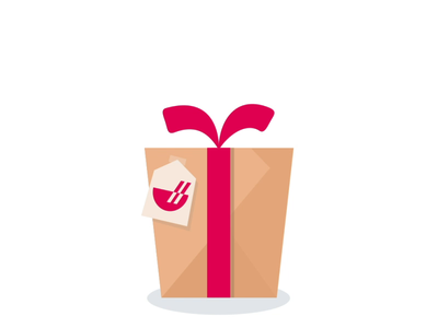 Get a Gift illustration vector animation 2d takeout icon redeem gift animation chowbus ui