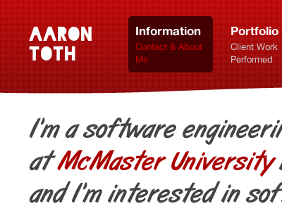Personal Site aaron toth mcmaster