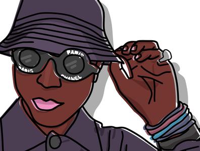 Pharrel in Chanel vector illustration vector vectorart illustratorart illustrator design adobe illustrator photoshopartwork photoshopart adobephotoshop