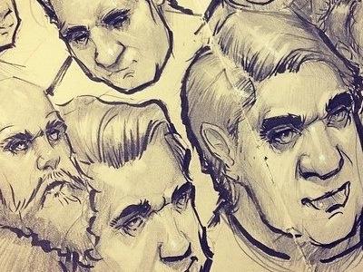 1 sketchbook moleskine ink graphite concept art character design