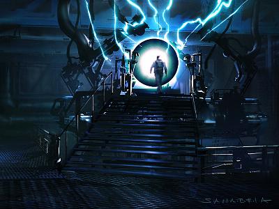 Intergalactic concept art art direction environment design character design digital painting illustration