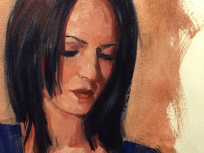 Bella oil painting traditional portrat