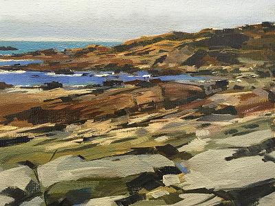 Laguna Beach 2 california beach ocean rocks representationalism realism painting oil pleinair landscape seascape