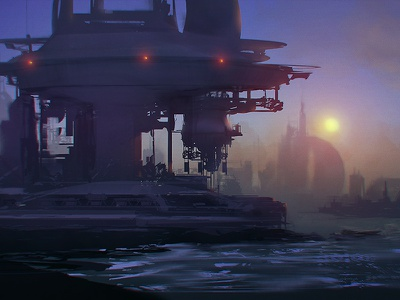 The Enemy painting shoreline environment scifi promo selfassemble matzo
