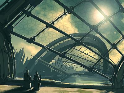 Utopia #7  architecture illustration sci-fi production painting concept art concept design environment design