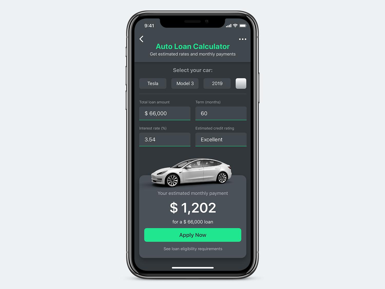Auto Loan Calculator By Jose Vite On Dribbble